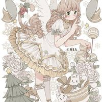 #Ange #Fille #Noël #Kawaii #Dessin mialoveless1 #Manga