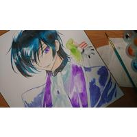 #CodeGeass #Dessin ccreayus #Aquarelle #TechniqueàEau #Anime #Animation #Manga