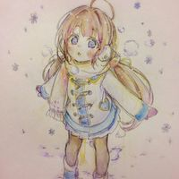 #Fille #Neige #Dessin if_224 #CrayonDeCouleur #Manga