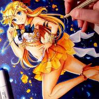 Sailor Vénus #SailorMoon #Dessin #Nashi #Feutre #Copic #PigmaMicron #Manga #Encrage #Colorisation