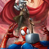 #Thor Spider-Man #Dessin Patrick Brown #Marvel #Comic