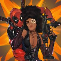 #Deadpool #Domino #Dessin Morry Evans #Marvel #Comic