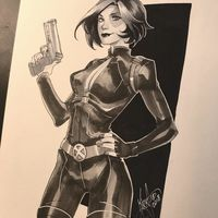 #Domino #Deadpool #Dessin Mirka Andolfo #Comic #Marvel