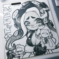#Splatoon #Dessin sur #Shikishi #DessinSurShikishi #JeuxVideo