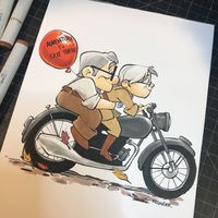 #Làhaut #Dessin #BrianKesinger #Feutre #Copic sketch #Colorisation pixar disney