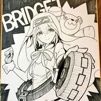 #Dessin sur #Shikishi frenchmaid_ #DessinSurShikishi #Manga