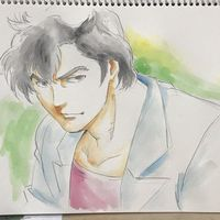 Nicky Larson City Hunter dessin NISHINOB aquarelle