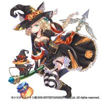 #Dessin #Halloween #Fille #Sorcière #RPG #MonsterCollect - Artiste : はくだ とふ - Twitter : @hakudatofu #Manga