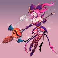 #Dessin #Halloween #LeagueOfLegends - Artiste :  ムーンブルー - Twitter : @moonblue_jp #JeuVidéo #Mmorpg