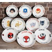 assiette Marvel Thor Black Panther Iron Man Captain America Spiderman Venom Thanos Deadpool Loki Le Soldat de L'Hiver
