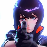 Netflix dévoile une image de Ghost In The Shell SAC 2045 au festival Annecy. Dessin Ilya Kuvshinov