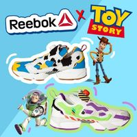 Baskets Toy Story 4 Reebok Instapump Fury Bait aux couleurs de Buzz l'éclair et le cow-boy Woody