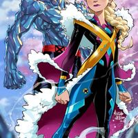 dessin Princesse Elsa de La Reine Des Neiges en X-men par marcus williams
