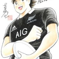 Captain Tsubasa chez les All Blacks dessin mangaka Yoichi Takahashi