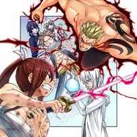Dessin pour la couverture du tome 5 de Fairy Tail: 100 Years Quest par Atsuo Ueda