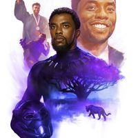Dessin hommage à Chadwick Boseman Black Panther T Challa par Ryan Meinerding Head of Visual Development des Marvel Studios