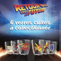 Des verres Retour Vers Le Futur au fast food Quick collection Delorean convecteur hoverboard Marty Mc Fly Doc