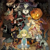 Dessin Halloween de Demizu Posuka mangaka The Promised Neverland