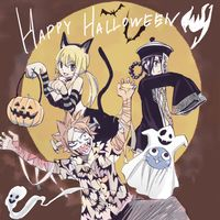 dessin Halloween par Atsuo Ueda mangaka Fairy Tail 100 Years Quest