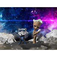 figurines Les Gardiens De La Galaxie Rocket Raccoon et Groot