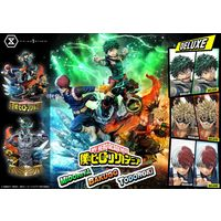 My Hero Academia deluxe chez Prime 1 Studio Izuku Midoriya Katsuki Bakugo Shoto Todoroki All Might