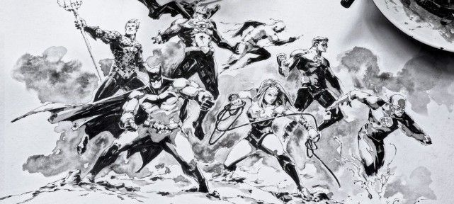 dessin-encrage-justice-league-dc-comics-
