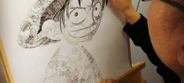 one-piece-incroyable-composition-pour-faire-portrait-luffy-d-monkey-