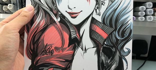 Dessins Artgerm : Harley Quinn, Superman, Street Fighter, Little Witch Academia