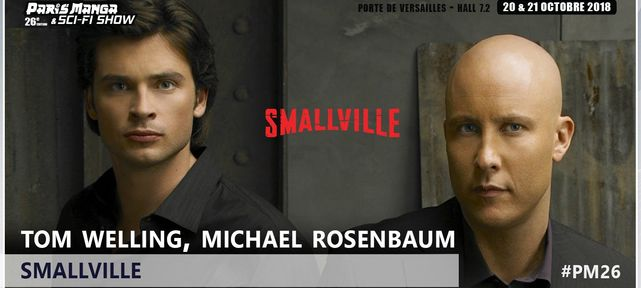 Superman et Lex Luthor de Smalville à Paris Manga les 20 et 21 octobre 2018 !