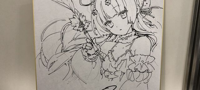 Dessins sur shikishi du RPG Twenty Three Seven par Noco