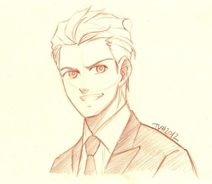 Leon 24: Dessiner un visage masculin - Anime Hairstyles Male
