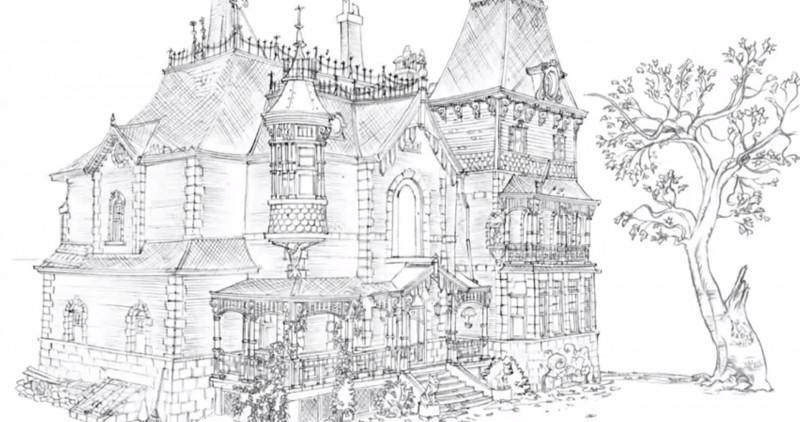 Le manoir magique l 39 origine du projet - Manoir dessin ...