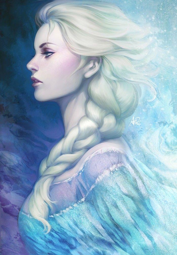Artgerm dessin elsa la reine des neiges - La reine des neige elsa ...