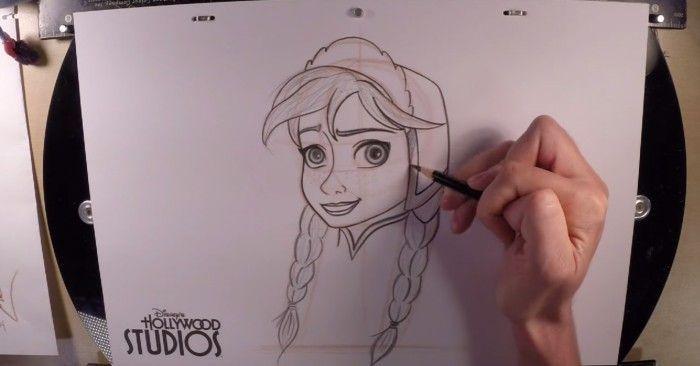 Apprendre dessiner la princesse anna d 39 arendelle la - Dessiner un chateau de princesse ...