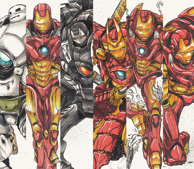 Iron man en armure de samourai - Dessin de iron man ...