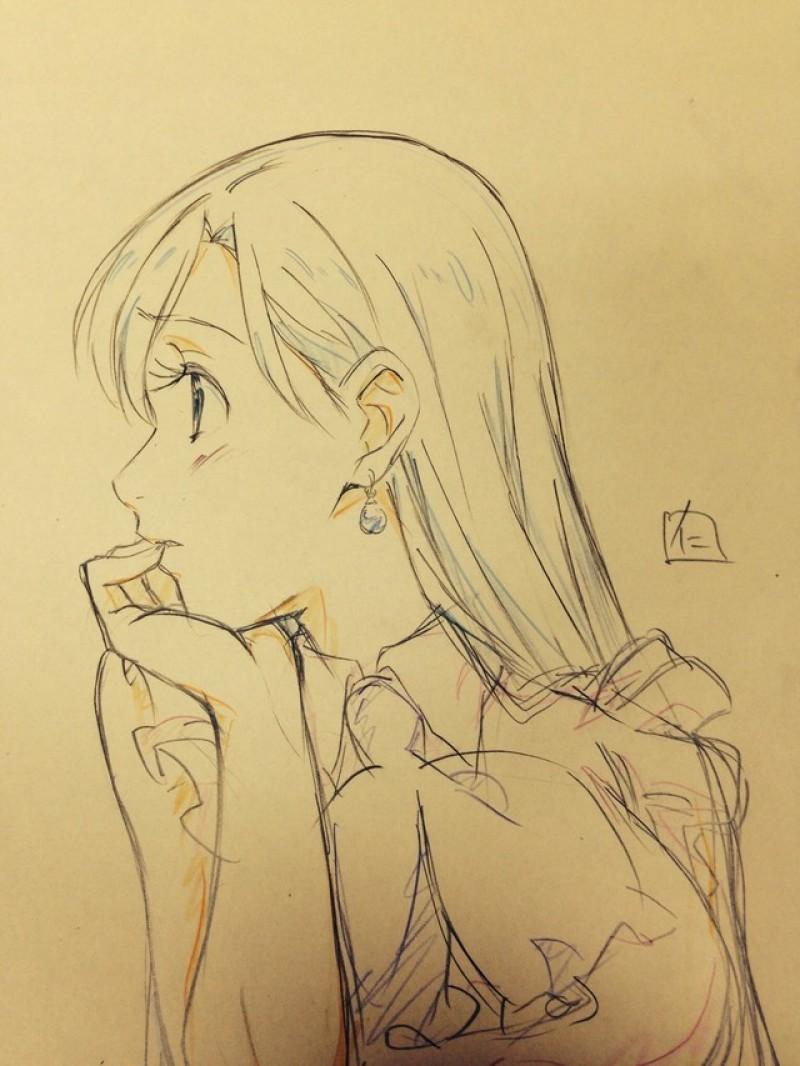 Dessins crayonnés de Seven Deadly Sins, Sword Art Online, Pretty Cure