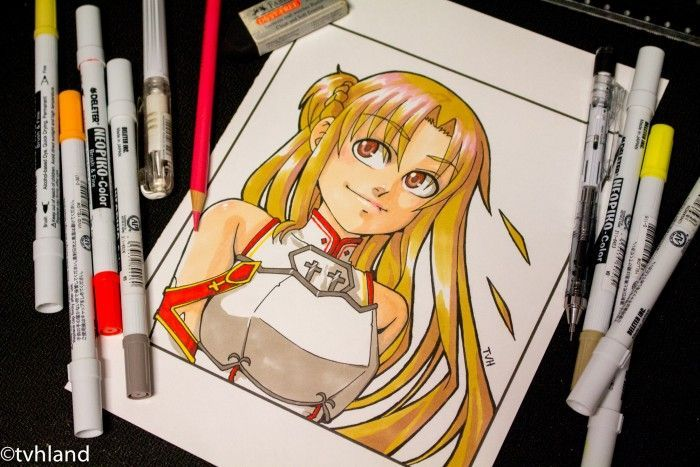 Comment dessiner Asuna de Sword Art Online? Dessin aux Neopiko-color