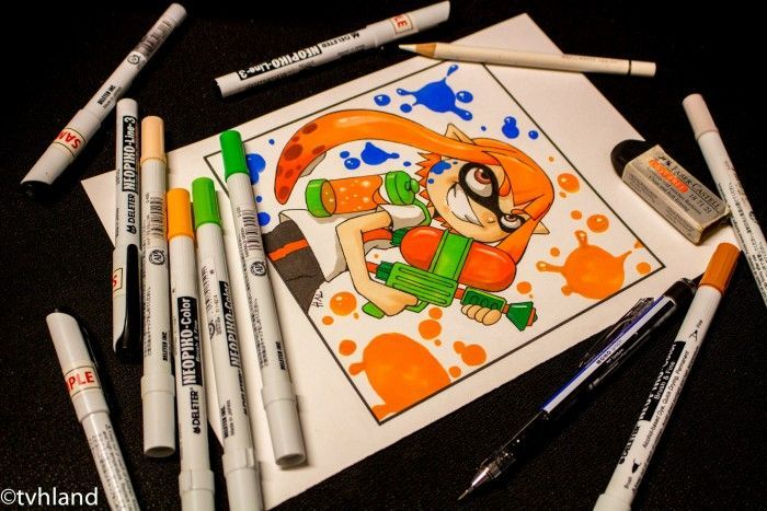 Comment dessiner Splatoon? Dessin au neopiko-color