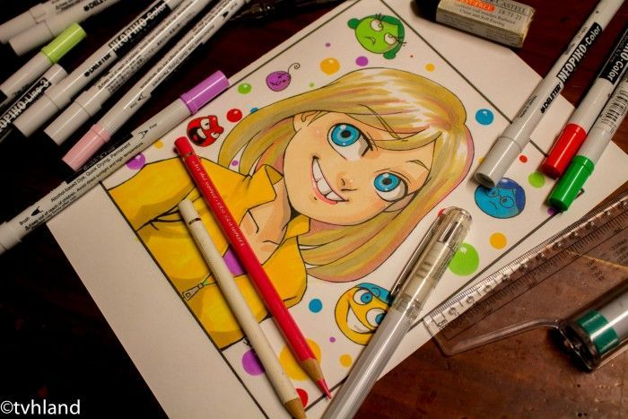 Comment dessiner Riley de Vice Versa (Pixar)- Dessin au Neopiko-color