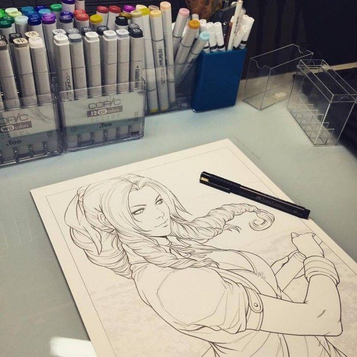 FINAL FANTASY : Dessins de Aerith, Tifa et Yuffie par ...