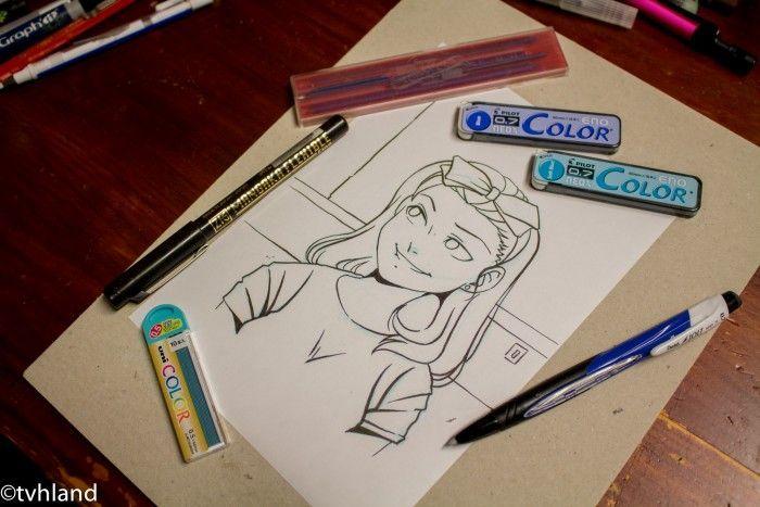 Bien connu de dessin: Pourquoi les professionnels dessinent en bleu? TB72
