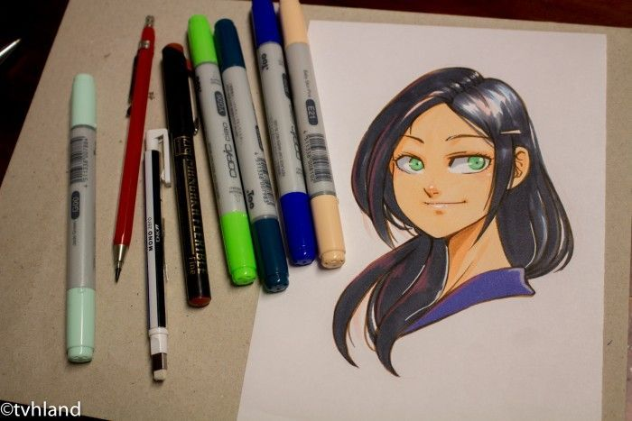 Dessin Shojo au Copic