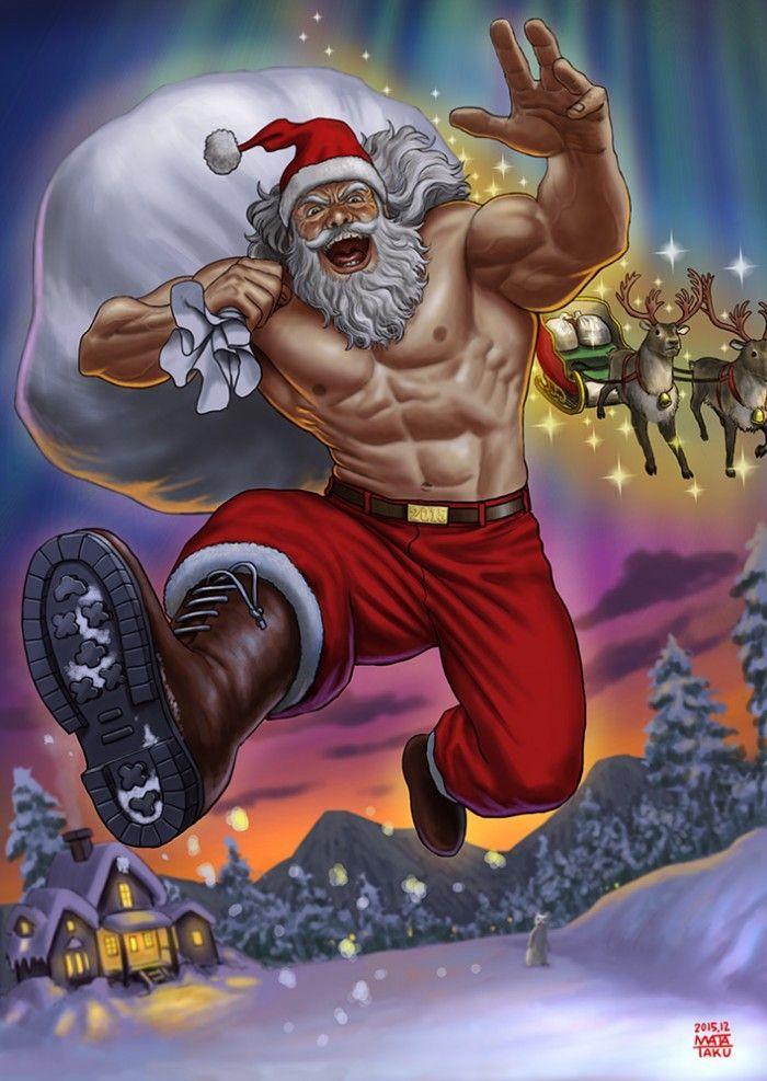 Humour Pere Noel Image.Dessins Humour Le Pere Noel Tout En Muscle Arrive Comme