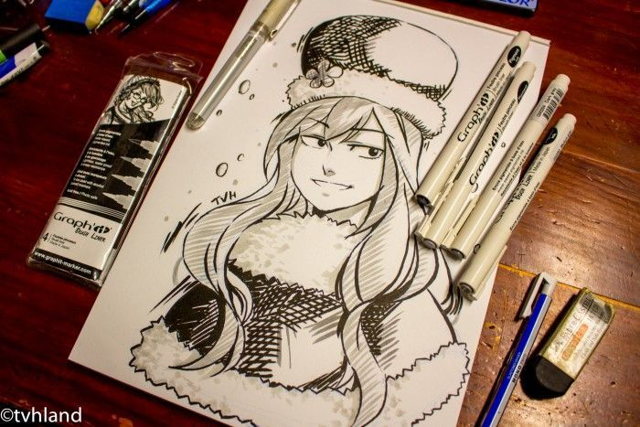 Comment dessiner Juvia de Fairy Tail au Graph It Liner Brush ?