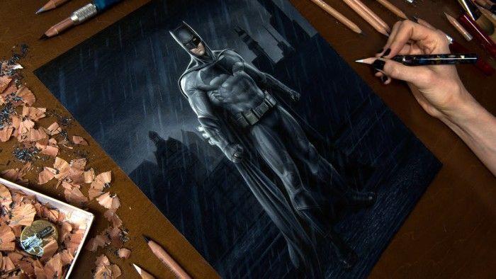 Dessiner Batman Aux Crayons De Couleurs