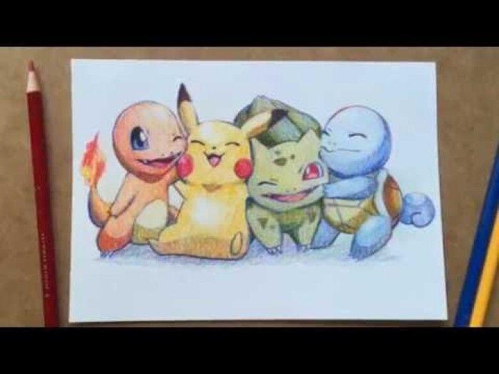 Coloriage Dessin Fanart Pokemon Avec 3 Crayons De Couleurs