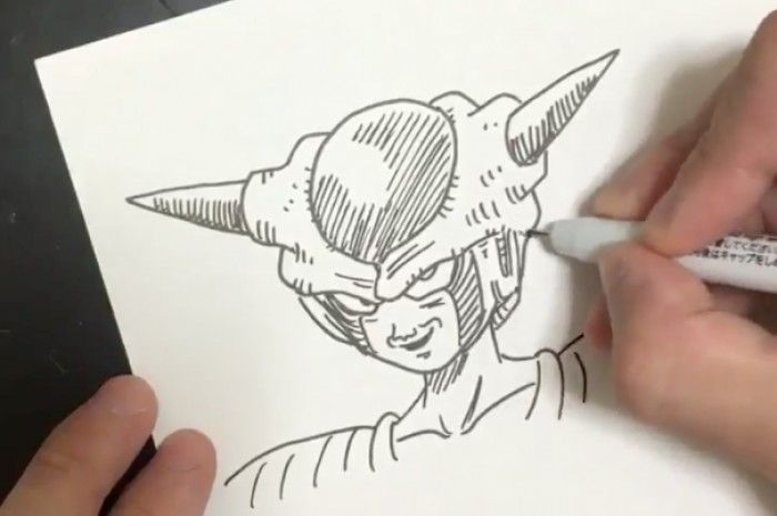 Dessiner Dragon Ball : Freezer au feutre Neopiko Line 3