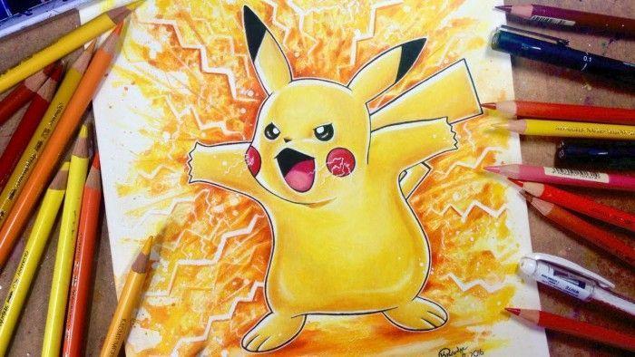 Dessiner pokemon go super effet de pikachu l 39 aquarelle - Dessin pokemon couleur ...