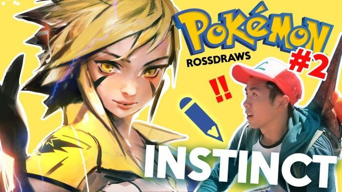Dessiner Pokemon Go : Spark de la team Instinct par RossDraws !