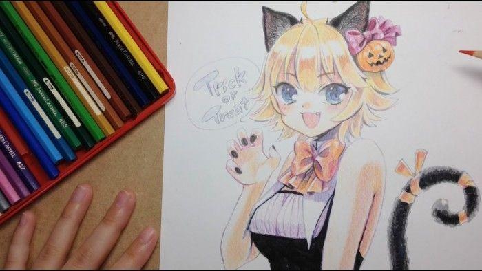 Coloriage Aux Crayons De Couleurs Halloween 2016